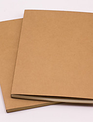 Random Delivery Solid Color Notebook Notepad 60 Pages 16K Kraft Paper Diary Simple Stationery