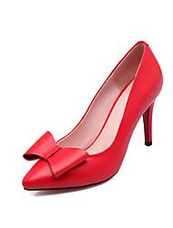 Homme-Habillé Décontracté Soirée & Evénement-Noir Rouge-Talon Aiguille-Autre Flower Girl Chaussures-Chaussures à Talons-Cuir