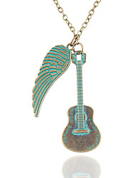Necklace Non Stone Pendant Necklaces Jewelry Daily Leaf Fashion Alloy Women Couples 1pc Gift Green