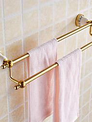 Double Towel Bar Towel Holder Towel Rack Space Alumnium & Ceramics Made Chrome Finish Bathroom Accessories