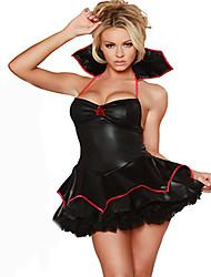 Disfraces de Cosplay Ropa de Fiesta Baile de Máscaras Mago/Bruja Reina Vampiros Cosplay Cosplay de Películas Negro Un Color Vestido