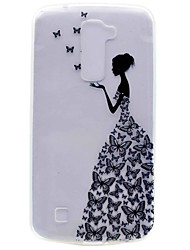 For LG K10 K7 NEXUS 5X X Power Butterfly Girl Painting TPU Phone Case