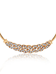 Necklace AAA Cubic Zirconia Chain Necklaces Jewelry Daily Others Euramerican Alloy Women 1pc Gift Gold Silver