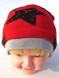 Boy's Fashion Winter Going out/Casual/Daily Knitting Keep Warm Star Patchwork Headgear Baby Cap Children's Hat