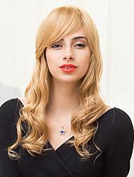 attractive couches longue belle capless perruques de cheveux humains onduleux naturel