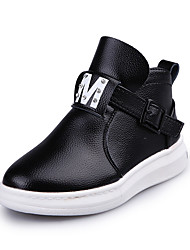 Girl's Boots Spring Fall Winter Comfort PU Casual Low Heel Magic Tape Black Red Gray Other