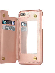 Назначение iPhone 8 iPhone 8 Plus iPhone 7 iPhone 7 Plus iPhone 6 Чехлы панели Бумажник для карт Защита от пыли Зеркальная поверхность