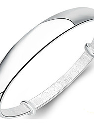Women's Bangles Sterling Silver Natural Fashion Jewelry Silver Jewelry 1pc