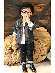 Boy Solid Suit & Blazer,Rayon Long Sleeve