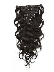 Body Wave Clip in Human Hair Extensions Malaysian Brazilian Virgin Human Hair Weaves Clip Ins 14-2070g 22100g