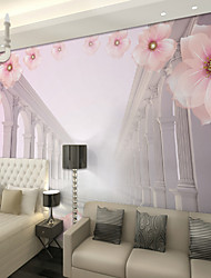 JAMMORY Pink Peach Architecture Wallpaper Personality Wallpaper Mural  Wall Covering Canvas Material Golden Church XL XXL XXXL
