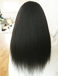 Brazilian Lace Front Wigs 7A Human Hair Wigs Coarse Yaki Lace Front Human Hair Wigs Kinky Straight