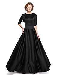 2017 Lanting bride® uma linha mãe do vestido de noiva - duas peças mangas de cetim stretch com apliques beading