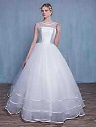 Princesse Robe de Mariage  Longueur Sol Bijoux Tulle avec