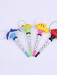 Creative Plastic Ocean Series Fish Style Bounce BallPoint Pen