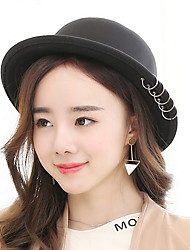 New Fashion Five Rings Along The Wool Woolen Anti Basin Hat Cute Hat Lady Wool Hat
