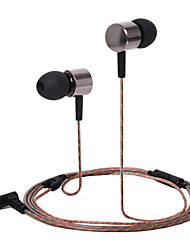 HUAST HST-47 Stereo HeadPhone In Ear Earphone Metal Handsfree Headset with Mic 3.5mm Earbuds For All Phone MP3 Player