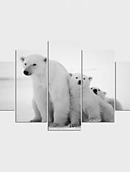 Impression sur Toile Animal Loisir Moderne Classique,Cinq Panneaux Toile Toute Forme Imprimer Art Décoration murale For Décoration