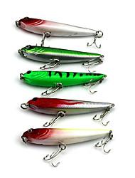 """5 pcs Señuelos duros Colores Aleatorios 5.7g g/1/4 Onza mm/2-3/4"""" pulgada,Plástico duro Pesca de Cebo"""