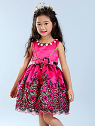 Girl's Going out Solid Dress Summer Sleeveless