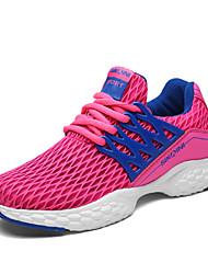 Feminino-Tênis-Soles de luz-Rasteiro-Preto Rosa-Tule-Casual Para Esporte