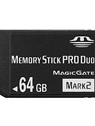64GB High Speed Black MS Memory Stick Pro Duo Card Storage for Sony PSP 1000/2000/3000 Game Console