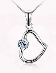 Pendants Sterling Silver Zircon Cubic Zirconia Basic Heart Fashion Silver Jewelry Daily Casual 1pc