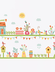 Wall Stickers Wall Decals Style flowering Straw PVC Wall Stickers