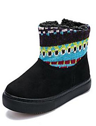 Girl's Boots Comfort Cotton Casual Black Blue Brown