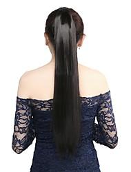 1pcs 22 '' envoltório 110g torno de extensões de cabelo rabo de cavalo sintéticos clipe na na cauda do cabelo peças 1 #