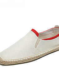 Men's Shoes Cotton Linen Summer Fall Moccasin Espadrilles Light Soles Loafers & Slip-Ons Split Joint Gore For Casual Party & Evening