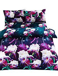 Mingjie 3D Reactive Cordate Telosma Bedding Sets 4 Pcs for Queen Size Contain 1 Duvet Cover 1 Bedsheet 2 Pillowcases from China
