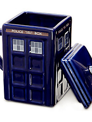 Novelty Drinkware, 400 ml Doctor Who Ceramic Coffee Milk Coffee Mug Phone Booth Mugs