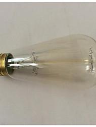 60w e27 st58 марочные Edison шарика 2700k Рето свет лампы накаливания filement вольфрама для гостиницы (220-240)