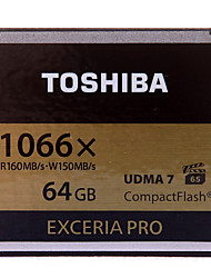 Toshiba 64GB Compact Flash  CF Card cartão de memória EXCERIA Pro 1066X VPG-65