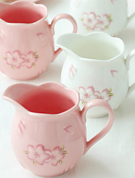 1 PC 225ml High Temperature Glaze Sakura Coffee Milk Pot Kettle Cup