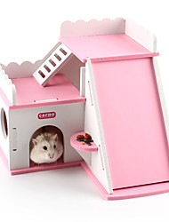 Rodents Hutches Toy Castle Plastic Blue Pink