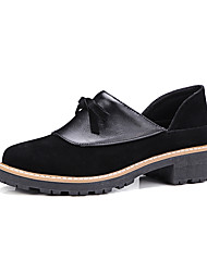 Women's Loafers & Slip-Ons Spring Summer Fall Other Leatherette Outdoor Casual Low Heel Bowknot Black Beige