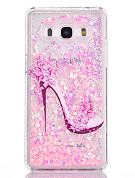 For Samsung Galaxy G530 Case Cover High Heels Pattern Small Fresh Series PC Material Love Quicksand Flash Powder Phone Case