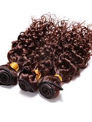Человека ткет Волосы Бразильские волосы Волнистые 3 предмета волосы ткет