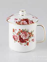 1 PC The flower of European office cup of Tea Mug round bone china coffee cup set