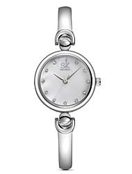 SK Mulheres Relógio Elegante Relógio de Moda Quartzo / Lega Banda Casual Elegantes Prata Dourada Dourado Prata Roxo Azul Rosa claro