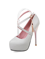Women's Heels Spring Summer Fall Other PU Party & Evening Casual Stiletto Heel Buckle Tassel Pink White Royal Blue
