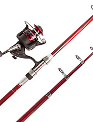 Telespin Rod Iso Rod Fishing Rod Fishing Rod + Reel Spinning Rod Spinning Rod FRP Carbon steel 210 MSea Fishing Freshwater Fishing