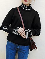 signer étudiant classique rayures tas collier faux deux plus épais velours pull couverture femme
