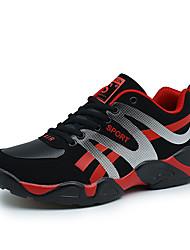 Femme-Décontracté Sport-Noir Noir jaune Noir rouge-Talon Plat-Confort-Chaussures d'Athlétisme-Polyuréthane
