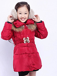 Girl Casual/Daily Solid Down & Cotton Padded,Rayon Winter Spring Fall Long Sleeve