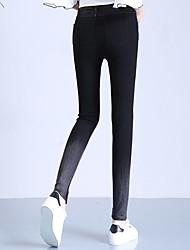 Sign 2017 spring new ultra elastic jeans elastic waist Korean version of fried flower girl leggings