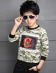 Boy Casual/Daily Print Tee,Cotton Spring Fall Long Sleeve