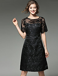 MAXLINDY Women's Lace Going out / Party / Holiday Vintage / Street chic /A Line Lace Dress